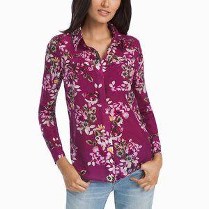 White House Black Market Floral Button-Up Shirt 12